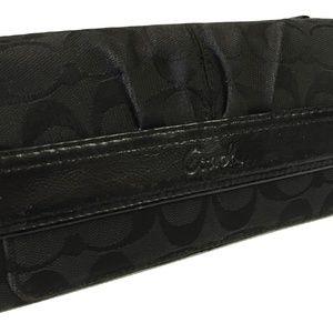 Coach Bags - SOLD! COACH Soho Black Signature Clutch Wallet
